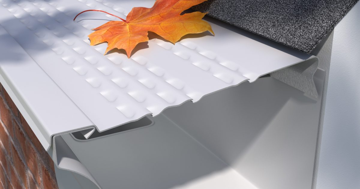 E Z Leaf Sweep Painted Aluminum Covers E Z Gutter Guards