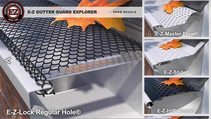 EZ Gutter Guards Product Explorer